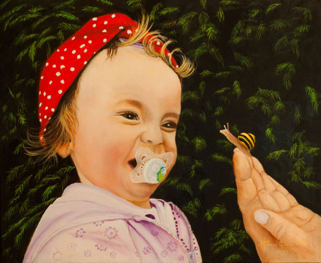 das Kind und die Schnecke